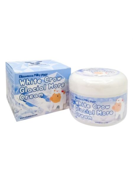 Крем для лица Elizavecca Milky Piggy White Crow Glacial More Cream. Сертификат