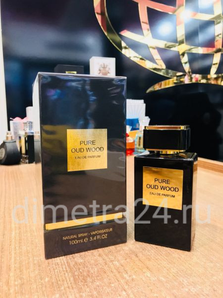 Fragrance World Pure oud wood 100 ml pour Homme.